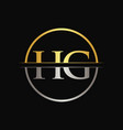 hg letter type logo design template abstract vector image vector image