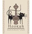 Hookah cat vector image