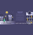 horizontal banner for christmas and new year vector image