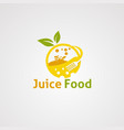 juice food logo icon element and template for vector image vector image