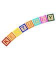 kentucky wooden block letters vector image vector image