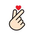 korean finger heart vector image vector image