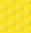 lemon isolated yellow background vector image vector image