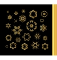 Mandala gold round ornament pattern