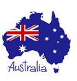 map australia with flag vector image