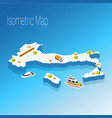 map italy isometric concept vector image