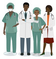 medical staff a set men and women medical vector image vector image