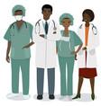medical staff a set men and women vector image