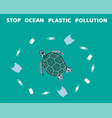 ocean pollution vector image