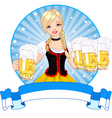 Oktoberfest girl label vector | Price: 3 Credits (USD $3)