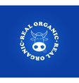 Organic milk symbol with fun cow face vector image vector image