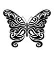 Ornamental butterfly silhouette vector image vector image
