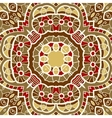 Ornamental round seamless pattern with many vector image