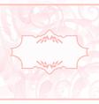 Ornamental wedding or baby card vector image