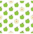 pattern with green apples vector image vector image
