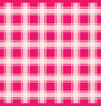 pink gingham seamless pattern vector image vector image