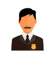 Police officer avatar trendy policeman icon in