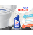 promotion banner of toilet cleaner vector image vector image