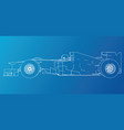 racing car wire-frame eps10 format vector image vector image