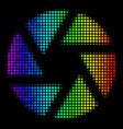 rainbow colored dotted shutter icon vector image vector image