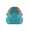 robot sleeping emoji cyborg asleep emotions vector image