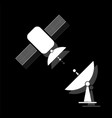 satellite connection icon flat vector image