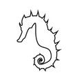 seahorse black color icon vector image