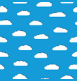seamless pattern of white clouds with shadows vector image