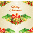 seamless texture christmas decorative christmas vector image vector image