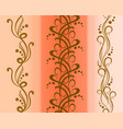 set of seamless floral patterns eps10 vector image vector image