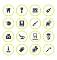 Set round icons of dental vector image vector image