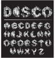 Silver disco ball letters vector image