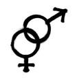 sprayed male and female logo man symbol gender vector image vector image