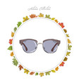 sun glasses hand draw accessories autumn vector image vector image