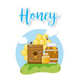 sweet honey card vector image