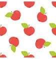 the ornaments of apples vector image