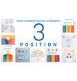 universal templates set infographics 3 positions vector image