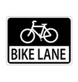 usa traffic road signline is reserve for bicycle vector image