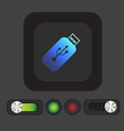 usb flash icon disk vector image
