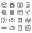 video camera line icons pack vector image vector image