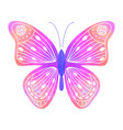 watercolor butterfly in doodle style vector image