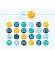 Web flat icons outline style set vector image vector image