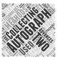 Why These Two Methods are Used in Autograph vector image vector image