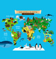 world map animals europe and asia south