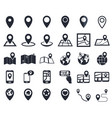 map pointer icons gps location symbol for vector image