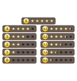 Rating stars best five yellow star ranking vector image