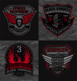 Stealth pilot military patches vector image