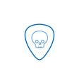 color line rock emblem with skull symbol design vector image