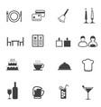 restaurant icons set vector image
