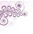 abstract floral curls vector image vector image